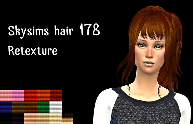 Skysims Hair 178 retexture by Atomic sims