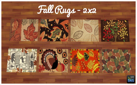 Autumn Paintings and Rugs by RebelCreators