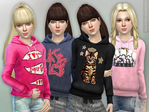 Hoodie for Girls P05 by lillka