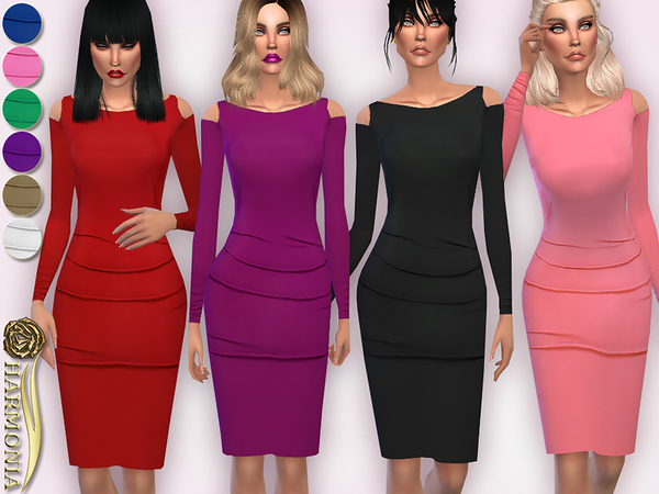 On-Trend Cold Shoulder Bodycon Dress by Harmonia