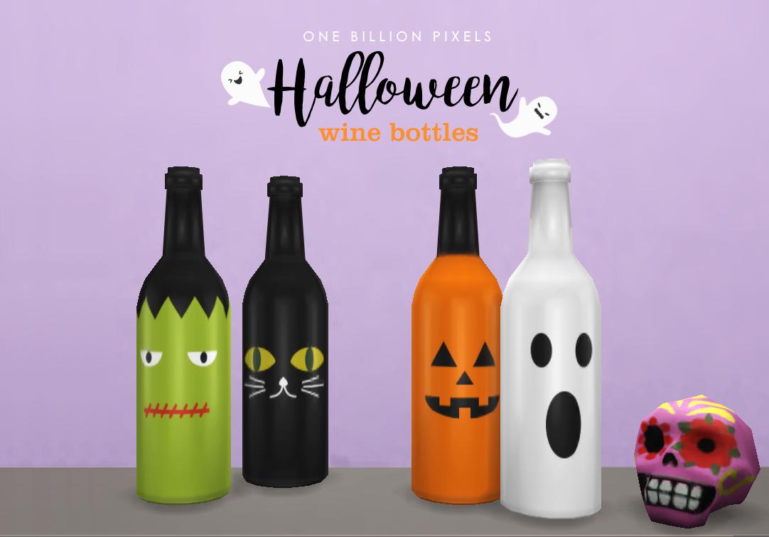 Halloween Wine Bottles by NewOne