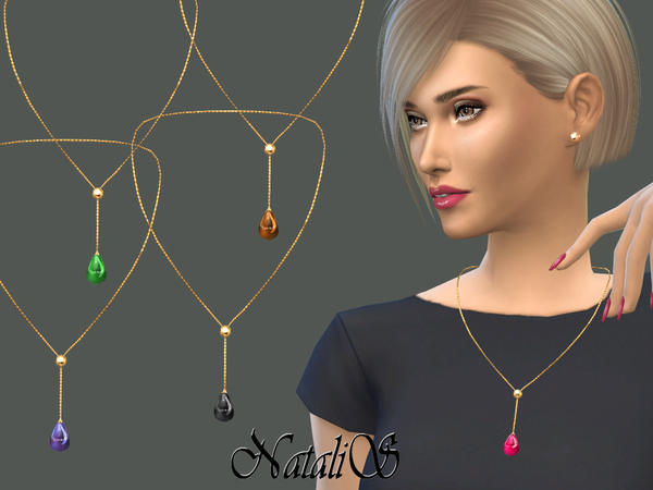 NataliS_Teardrop cabochon necklace