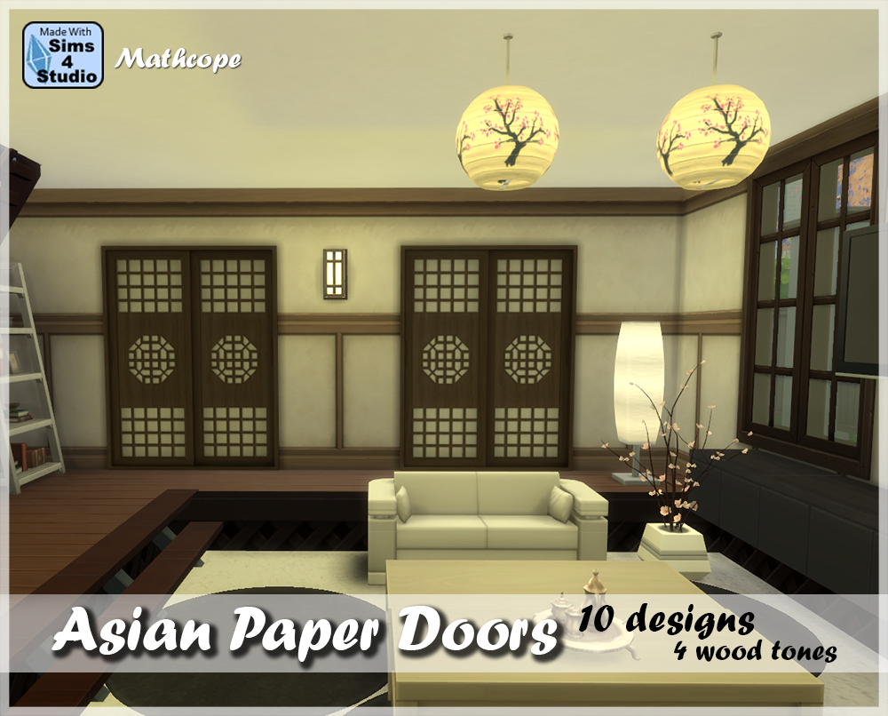Asian Paper Doors Set by MathCope