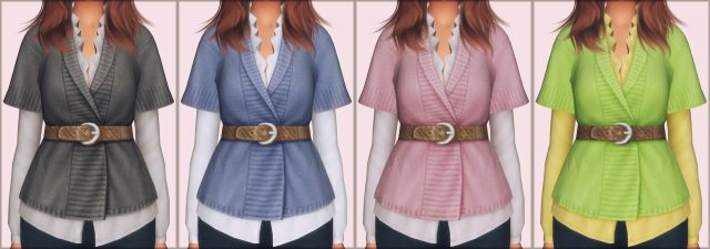 Belted Sweater by EllieSimple