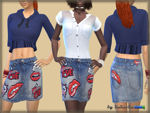 Denim Skirt Love by bukovka