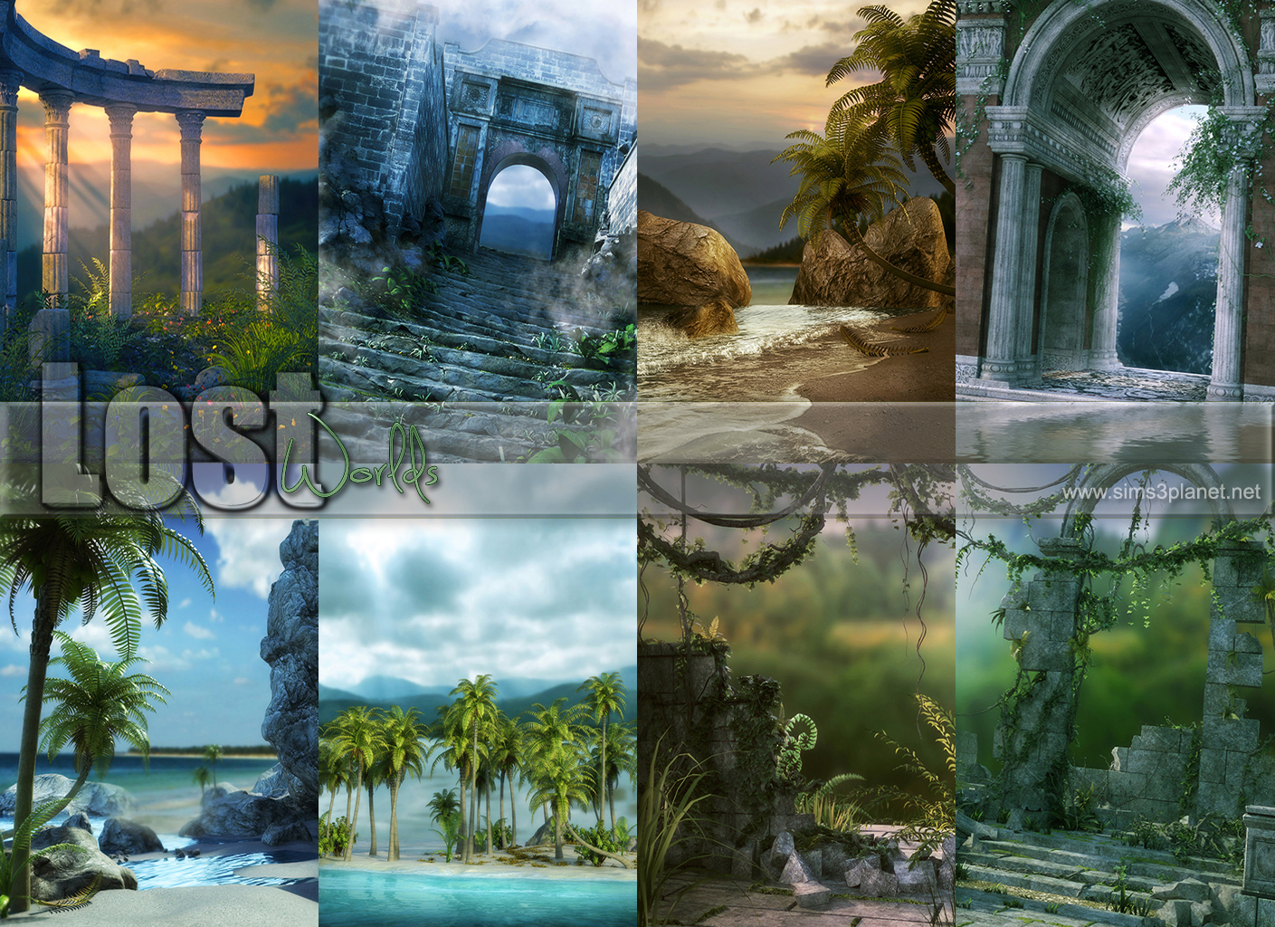 Lost Worlds Backgrounds by lorelea