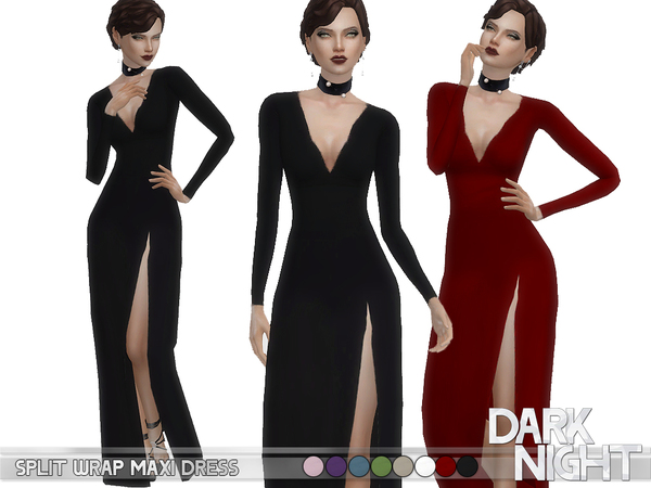 Split Wrap Maxi Dress by DarkNighTt