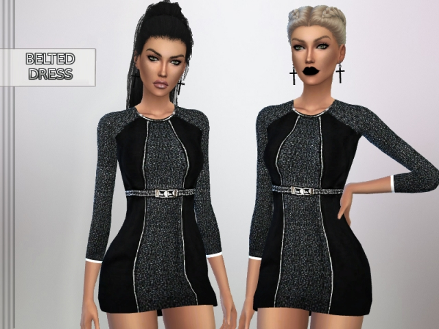Belted Dress by puresim