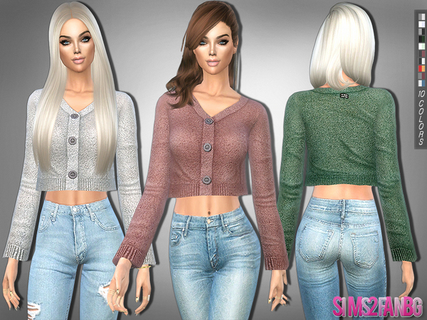 232 - Cropped Sweater by sims2fanbg