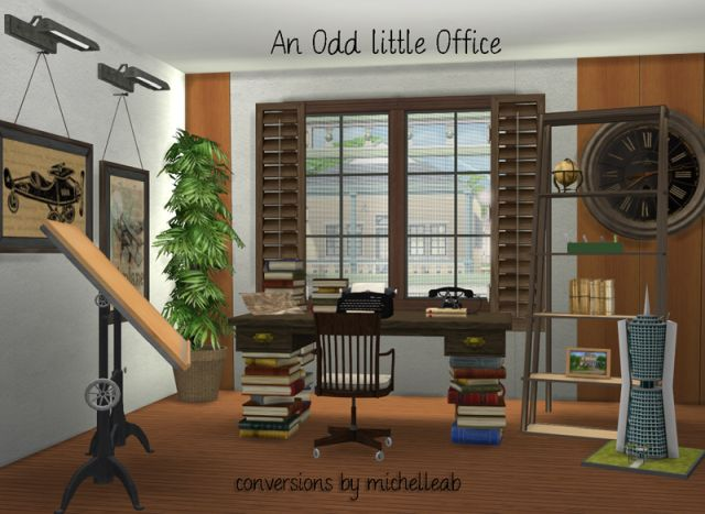 An Odd Little Office Set by Michelleab