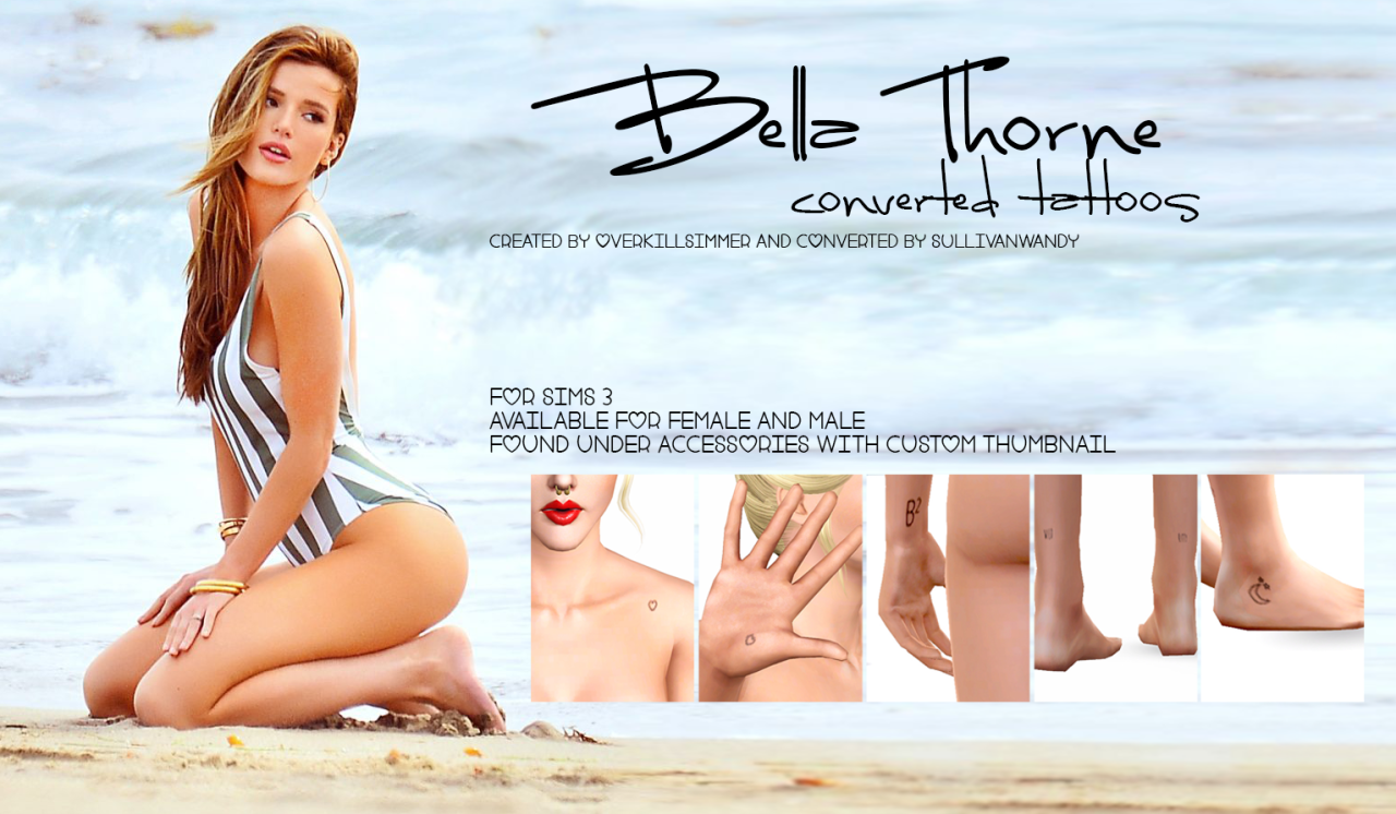 Bella Thorne Converted Tattoos от sullivanwandy