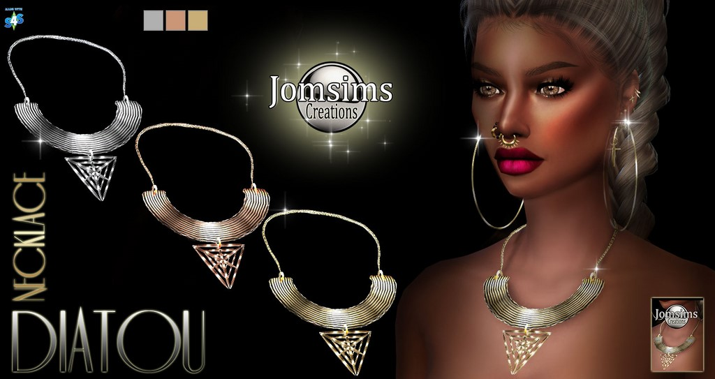 Diatou necklace by JomSims