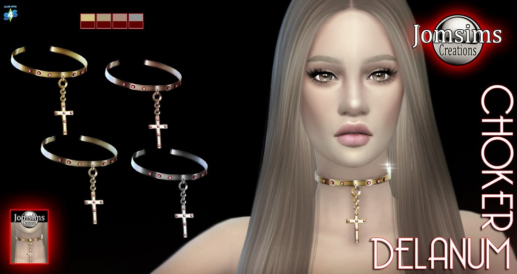 Delanum cross choker by JomSims