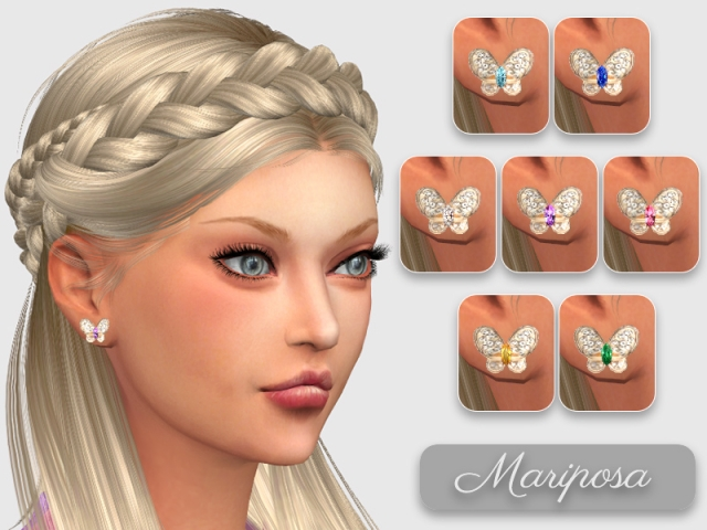 Butterfly Earrings by GiuliettaSims