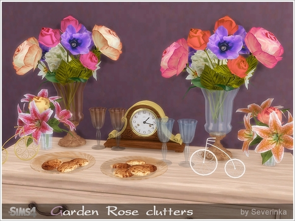 Garden Rose clutters by Severinka