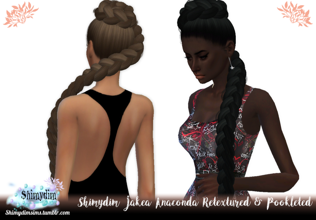 Anaconda Hair Retexture by ShimydimSims