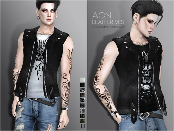 Aon Leather Vest by Pralinesims