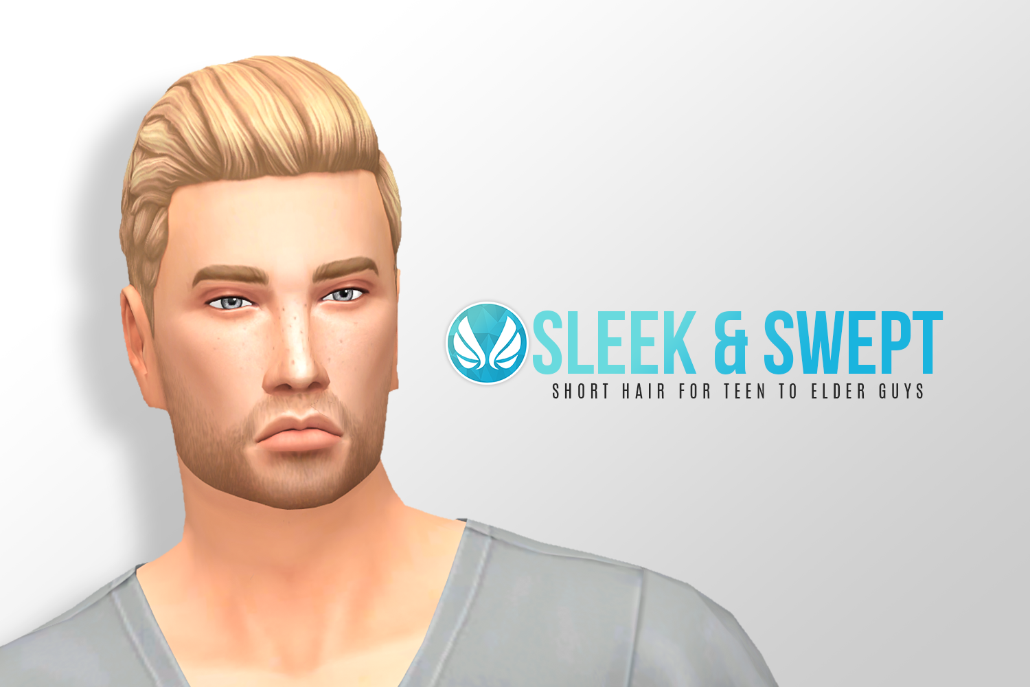 Sleek and Swept Hair for Males by Peacemaker ic