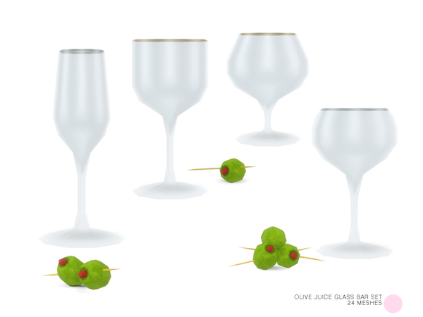 Olive Juice Glass Bar Set by DOT