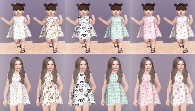 Heart dresses (Toddler and child) by Descargassims
