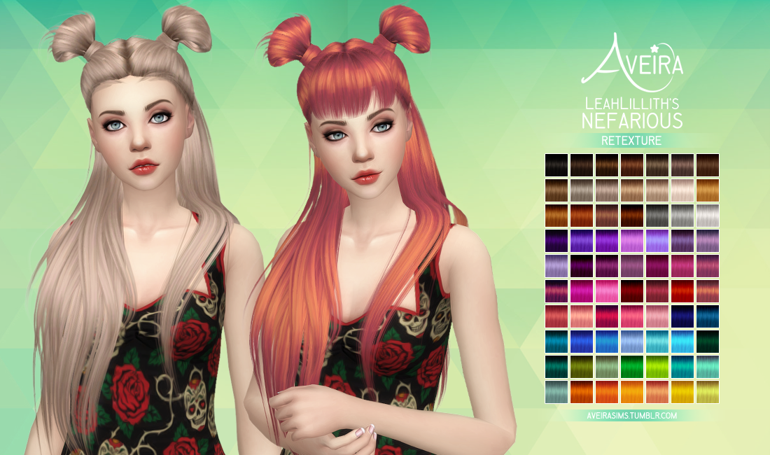 Nefarious Hair Retexture by AveiraSims