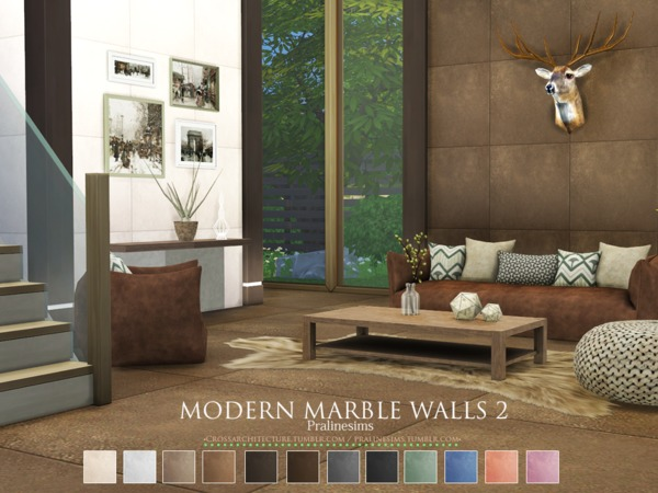 Modern Marble Walls 2 by Pralinesims