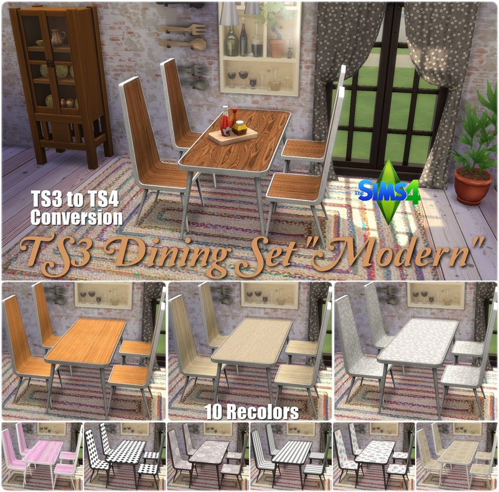 TS3 Modern Dining Set Conversion by Annett