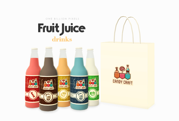 Decorative Fruit Juice Drinks by NewOne