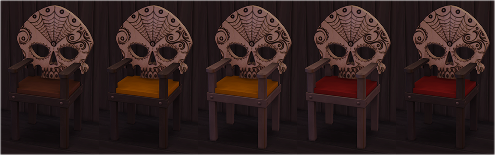 Skull Chair and Pillows by Mathcope