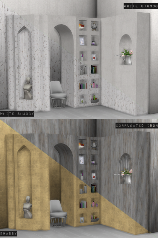 Marble Niches Recolored by Loverat