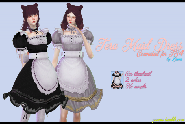TERA MAID DRESS by Zauma