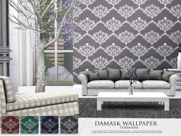 Damask Wallpaper by Pralinesims