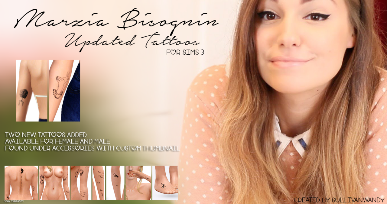 Marzia Bisognin Updated Tattoos от sullivanwandy