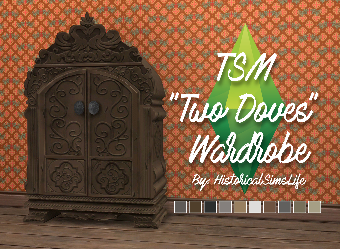 TSM Two Doves Wardrobe Conversion by Historical Sims Life