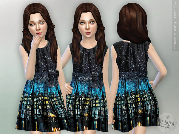 Multicolor Cocktail Dress by lillka