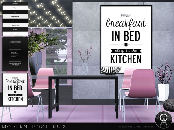 Modern Posters 3 by Pralinesims