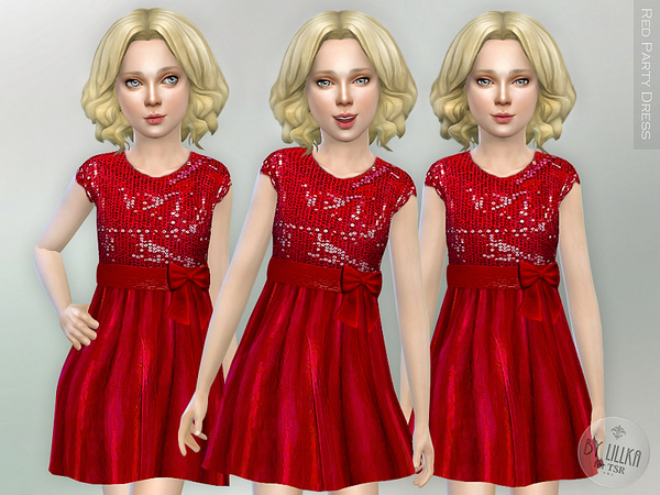 Red Party Dress by lillka