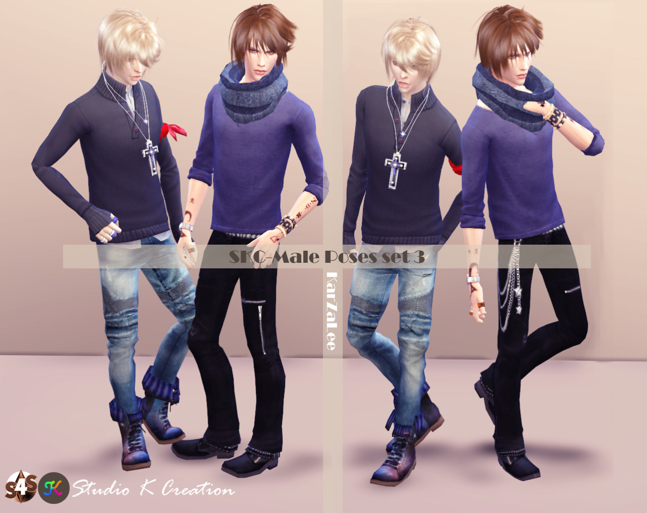 SKC Male Pose Set 3 by Karzalee