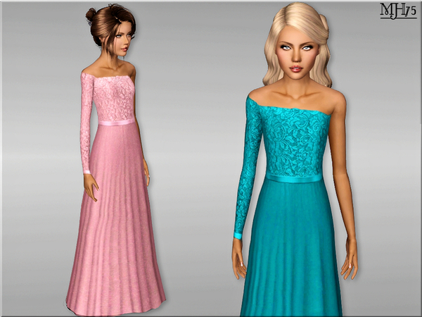 S3 One Sleeve Gown [Teen] by Margeh-75
