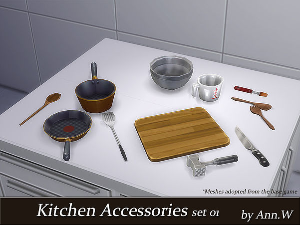 Kitchen Accessories by AnnWTheSims4