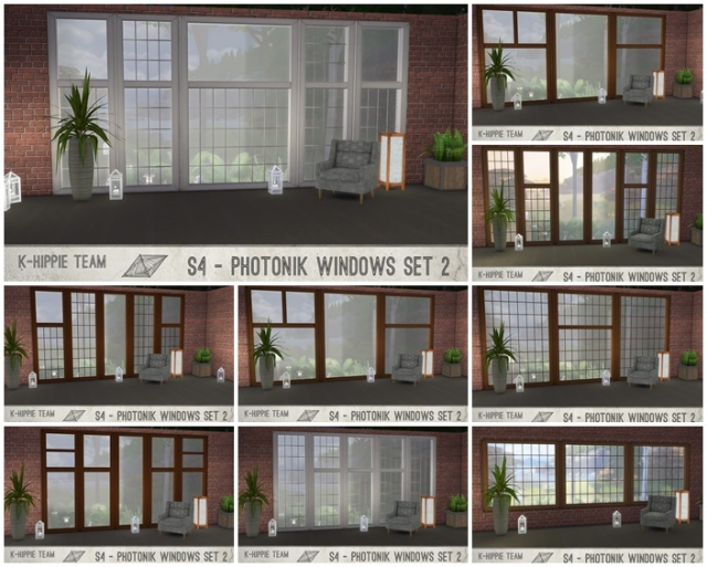 K Photonik Windows ( Sunny / Moony )  18 x 7 recolors  Set 2 by K-hippie