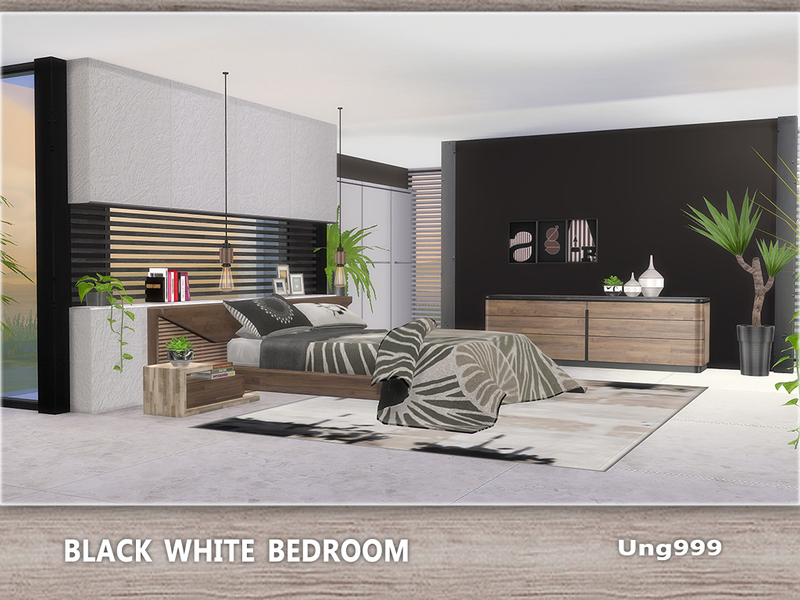 Black White Bedroom by ung999