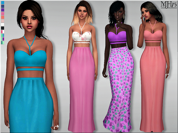 S4 Summer Casual Maxi Dress by Margeh-75