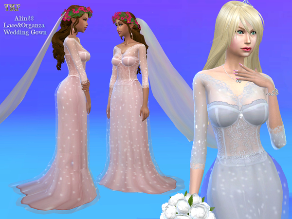 Sweet Lace & Organza Wedding Gown by alin2