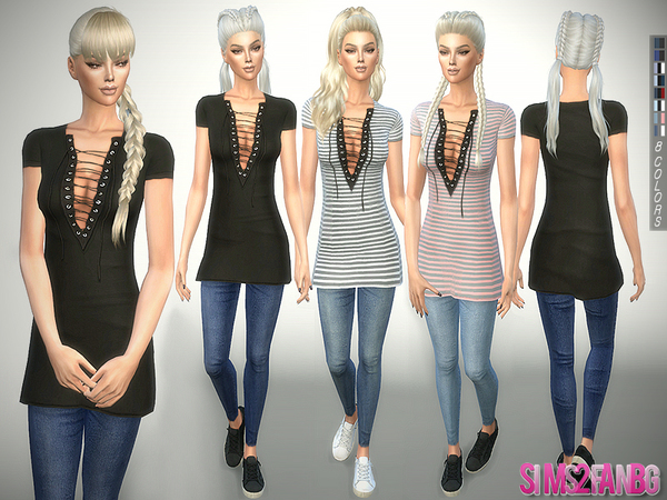 241 - Tunic with Jeans by sims2fanbg