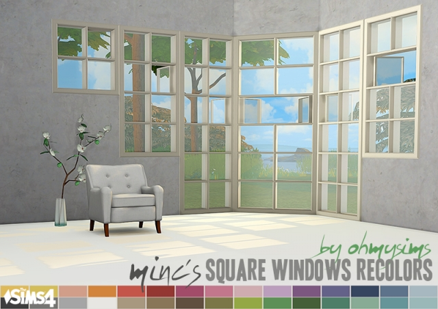 Basic Square Windows Recolors by OhMySims