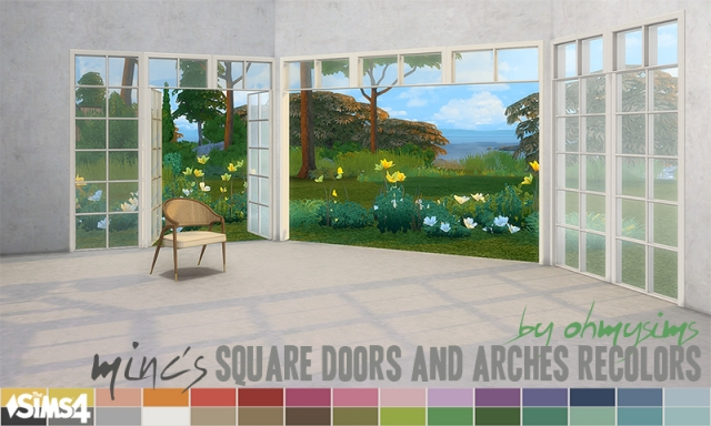 Basic Square Doors and Arches Recolors by OhMySims