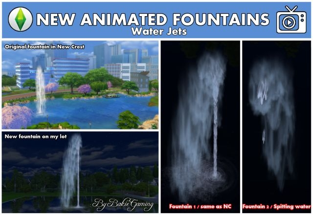 2 New Water Jet Fountains by Bakie