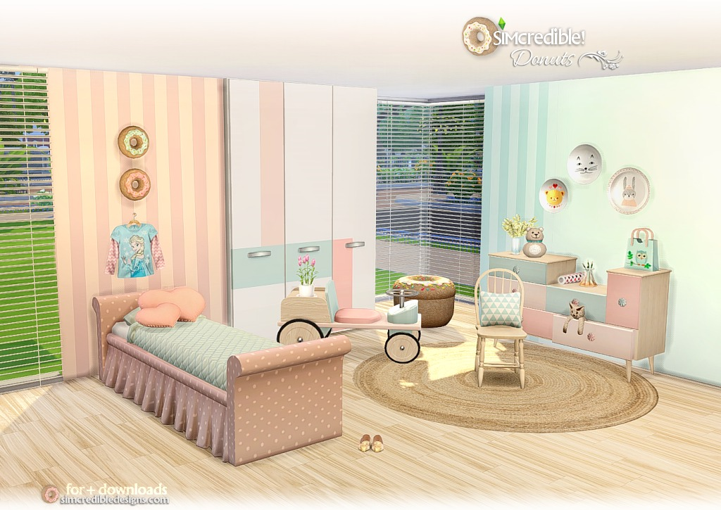 Donuts Kid's Bedroom Set by Simcredible Designs