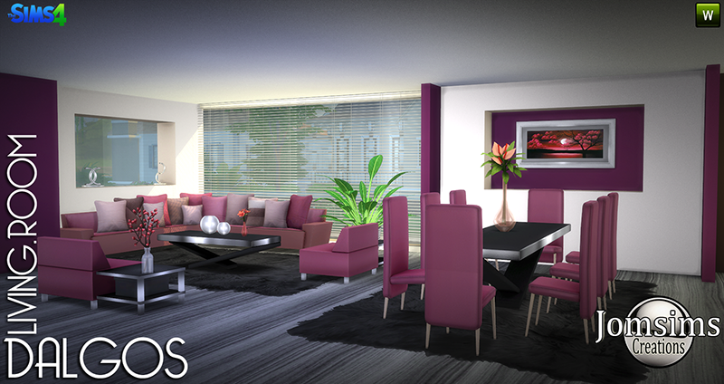 Dalgos Living and Dining Set by JomSims